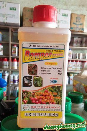 Bamper 500EC, đặc trị tuyến trùng rễ tiêu, rệp sáp, mọt đục cành đục quả