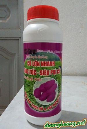 LS-Sum là phân vi lượng bón rễ, chuyên dùng cho cây khoai lang, giúp củ lớn nhanh, tăng tốc, siêu phì củ. Hạn chế thối củ và lác đồng tiền