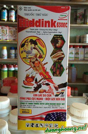 thuốc trừ sâu Hiddink 630EC,đặc trị sùng đất, rệp sáp, mọt đục cành