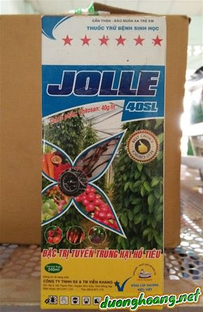 JOLLE 40SL, trừ bệnh sinh học, nấm Phytophthora, Fusarium, Phythium