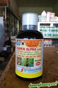 sapen alpha 240ml trị sâu xám, sâu ăn lá khoai lang
