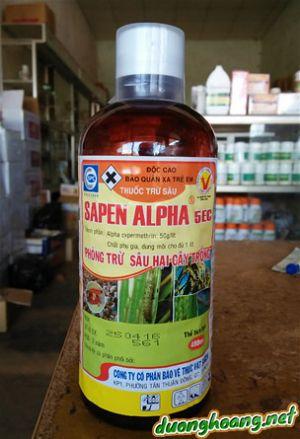 sapen alpha trị sâu cuốn lá, bọ trĩ, bọ xít hôi, muỗi, sâu xám, sâu ăn lá
