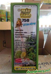 Trâu vàng 750EC chuyên trị rệp sáp, tuyến trùng hại rễ Hồ Tiêu; rệp đen, rệp sáp trắng, kiến, mọt đục cành đục quả cà phê; bọ hà