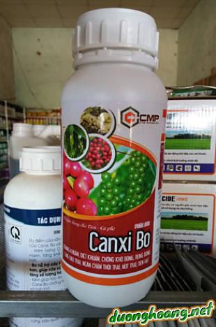 Canxi - Bo CMP, dùng cho Tiêu - Cà Phê, kháng khuẩn, diệt khuẩn, chống khô bộng, rụng bông, tăng đậu trái, ngăn chặn thối trái, nứt trái, đen hạt