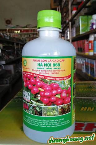 hà Nội 969, dưỡng chất cây trồng, chuyên dùng cho cây lấy quả, cây công nghiệp, kích thích siêu ra hoa, đậu quả, chống rụng quả