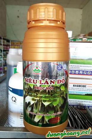 Siêu Lân Đỏ, phuc hồi cây sau thu hoạch, giải độc phèn, cải tạo đất, phát triển rễ non, đâm chồi phát đọt, kích thích tạo mầm hoa