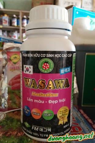 Phân bón hữu cơ sinh học cao cấp Wasawa, lên màu - đẹp trái, giúp trái tươi ngon có vị ngọt tự nhiên.