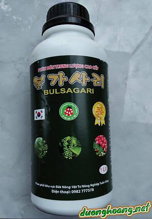 Phân bón qua la - tưới gốc, Vino 79, BULSAGARI, Cung cấp các nguyên tố trung vi lượng, Acid amin và các dưỡng chất cho sự phát triển của cây trồng.