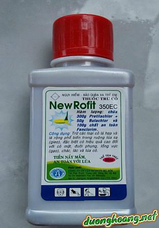 Thuốc diệt mầm cỏ lúa NewRofit 350EC, diệt mầm lúa nước, thuốc diệt hạt, tiền nẩy mầm, thuốc trừ cỏ lá hẹp, lá rộng trên lúa, cỏ lồng vực, đuôi phụng, chác