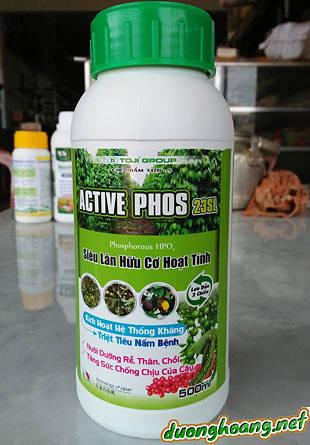 Active phos 23SL siêu lân hữu cơ hoạt tính, kích hoạt hệ thống kháng, triệt tiêu nấm bệnh và nuôi dưỡng rễ, thân, chồi
