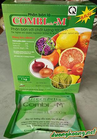 Phân bón lá combisolu-M chất lượng tột đỉnh hàng hóa thuộc nhóm 1 của Châu Âu, không chứa clo 100% vi lượng chelate của Bỉ