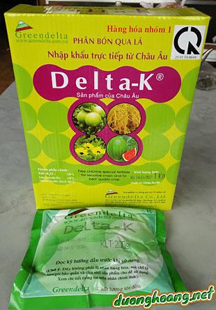 Delta-K bổ sung trung vi lượng dạng vệt (ppm) giúp ra hoa đồng loạt, hạt chắc, trái to và thơm ngon hơn