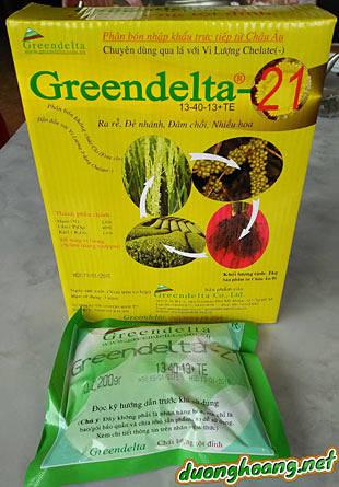 13-40-13+TE Greendelta-21 chuyên dùng qua lá giúp cây ra rễ, đẻ nhánh, đâm chồi , nhiều hoa, hàng cao cấp chất lượng tột đỉnh của Châu Âu
