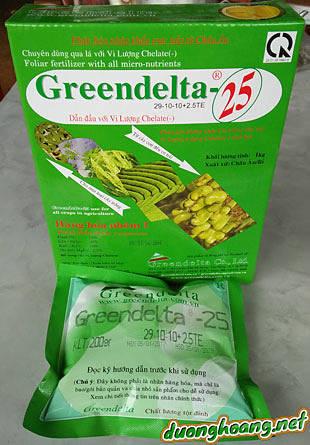 Phân bón vi lượng chelate 29-10-10+2,5TE không chứa clo nhập khẩu từ Bỉ, Greendelta -25 thuộc nhóm 1của Châu Âu