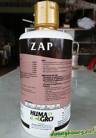 Phân bón rễ cao cấp ZAP - giải độc hữu cơ, đất mặn....hạn chế mầm bệnh, Zap giúp cải tạo đất chai, bạc màu, phân hủy hóa chất, thuốc bvtv tồn dư trong đất.